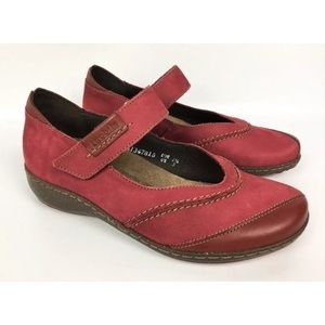 Mephisto Marcia red leather Mary Jane shoes Sz 10